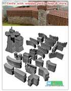 modular medieval Fortress with wooden parts - OPENLOCK (STL File)