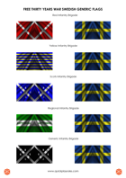 Flag Sheet: Generic Thirty Years War Swedish Flags