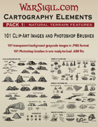 Cartography Elements: Pack 1 - 101 Terrain Features