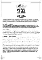 Age of Steel errata