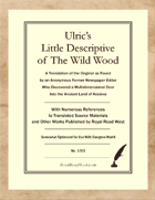 Ulric's Little Descriptive of The Wild Wood – Somewhat Optimized for Dungeon World