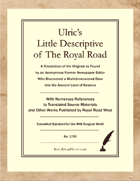 Ulric's Little Descriptive of The Royal Road – Somewhat Optimized for Dungeon World