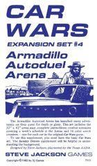 Car Wars Expansion Set 4 - Armadillo Autoduel Arena