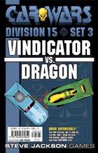 Car Wars Division 15 Set 3 - Vindicator vs. Dragon