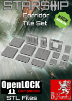 Starship 3D Printable OpenLOCK Deck Plans - Corridor Tiles