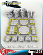 Starship 3D Printable OpenLOCK Deck Plans - Engineering Tiles