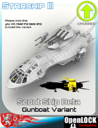 Scout Ship Beta Gunboat Variant