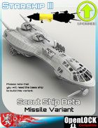 Scout Ship Beta Missile Variant