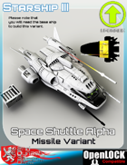 Space Shuttle Alpha Missile Variant