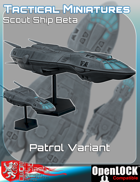 Tactical Miniatures Scout Ship Beta Patrol Variant