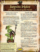Saga of the Goblin Horde: Sanguine Solstice (Savage Worlds Deluxe)
