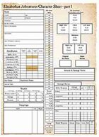Elizabethan Adventures: 3-Page Character Sheets
