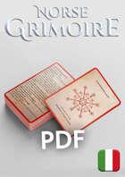 Norse Grimoire for 5th Edition - Carte Incantesimi ITA - Galdrastafir