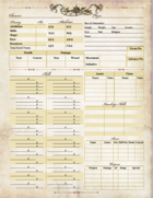 Age of Aether Character Sheet