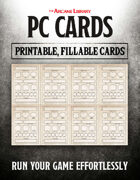 Combat Cards: Fillable PC Cards (5E)