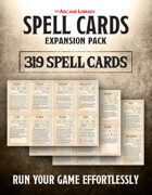 Spell Cards Expansion Pack: 319 Pre-Filled Spell Cards (5E)