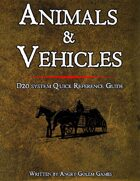 AD&D 2ed ANIMALS & VEHICLES