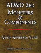 AD&D 2ed MONSTERS & COMPONENTS
