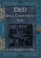 D&D 5e - Spell Components List