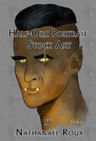 Half-Orc Portrait Stock Art