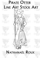 Pirate Otter Line Art Stock Art