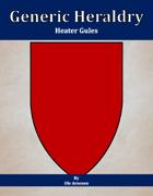 Generic Heraldry: Heater Gules