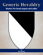 Generic Heraldry: Heater Per bend argent and sable