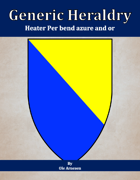 Generic Heraldry: Heater Per bend azure and or