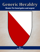 Generic Heraldry: Heater Per bend gules and argent