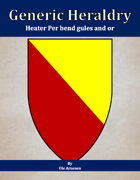 Generic Heraldry: Heater Per bend gules and or