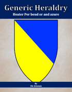 Generic Heraldry: Heater Per bend or and azure