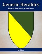 Generic Heraldry: Heater Per bend or and vert