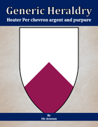Generic Heraldry: Heater Per chevron argent and purpure