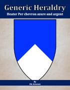 Generic Heraldry: Heater Per chevron azure and argent