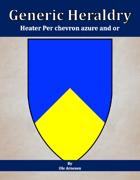 Generic Heraldry: Heater Per chevron azure and or