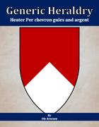 Generic Heraldry: Heater Per chevron gules and argent