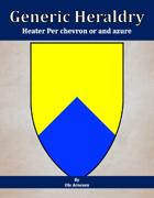Generic Heraldry: Heater Per chevron or and azure