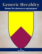Generic Heraldry: Heater Per chevron or and purpure