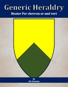 Generic Heraldry: Heater Per chevron or and vert