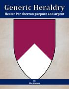 Generic Heraldry: Heater Per chevron purpure and argent
