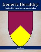 Generic Heraldry: Heater Per chevron purpure and or