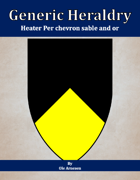 Generic Heraldry: Heater Per chevron sable and or