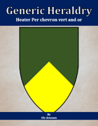 Generic Heraldry: Heater Per chevron vert and or