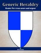 Generic Heraldry: Heater Per cross azure and argent