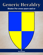 Generic Heraldry: Heater Per cross azure and or