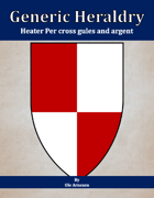 Generic Heraldry: Heater Per cross gules and argent