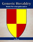Generic Heraldry: Heater Per cross gules and or