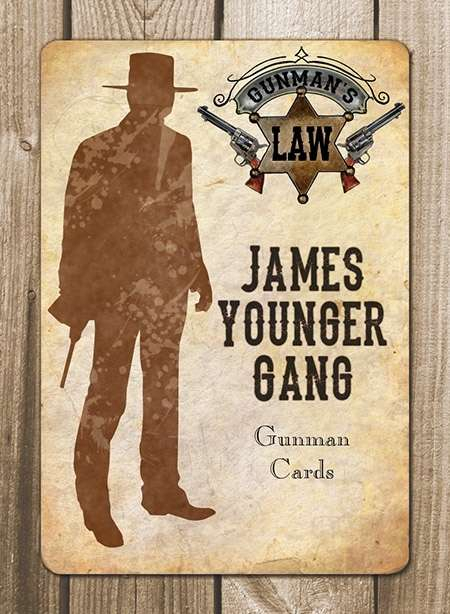 Gunman's Law James-Younger Gang Cards