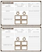 TRUDVANG CHRONICLES: 3 x NPC Sheets