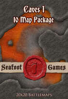 Seafoot Games - Caves I (10 Battlemap Package)